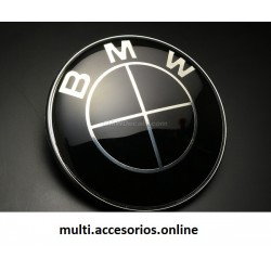 BMW EMBLEM 82 MM DIAMETER BLACK AND WHITE